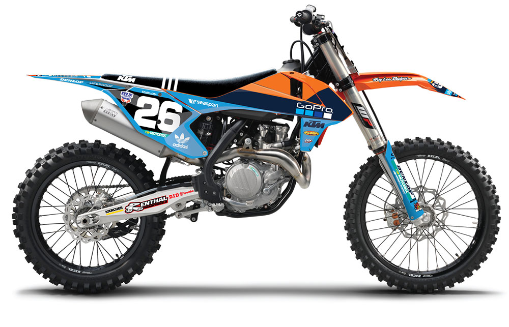 Ktm 350 Xcf >> AOMC.mx: N-Style KTM/TLD McQueen Graphic Kit KTM 16-18
