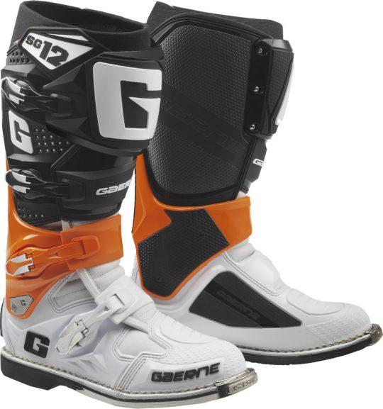 Gaerne Mens SG-12 Motocross Boots Mens Size 10.5 Grey//Flo Yellow//Black