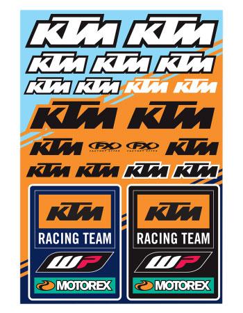 KTM Racing Team Sticker Sheet by Factory Effex