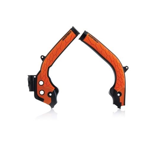 aomc.mx: acerbis x-grip frame guards (black/orange) ktm 16-18
