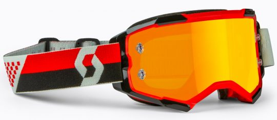 Scott Fury Adult Off-Road Motorcycle Goggles Red//Black Clear//One Size