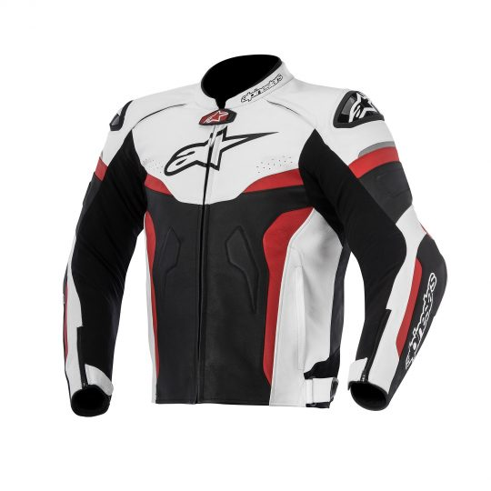 Alpinestars Leather Jacket >> Alpinestars Celer Leather Jacket Blk Wht Rd