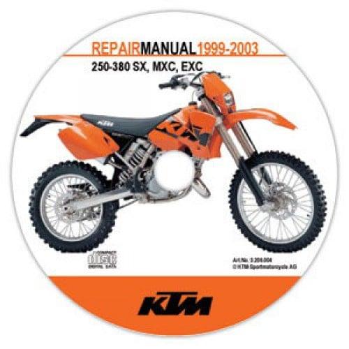 aomc mx ktm cd repair manual 98 03 250 380 sx mxc exc rh ktm parts com ktm 250 exc manual 2008 ktm 250 exc manual 2008