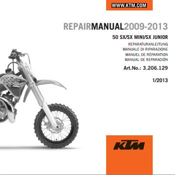 aomc mx ktm cd repair manual 50 sx 09 15 rh ktm parts com KTM 50 SX LC KTM 50 SX Pro Senior