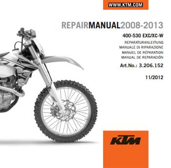 Aomc Mx Ktm Cd Repair Manual 400 530 Exc Xc W 08 15 border=