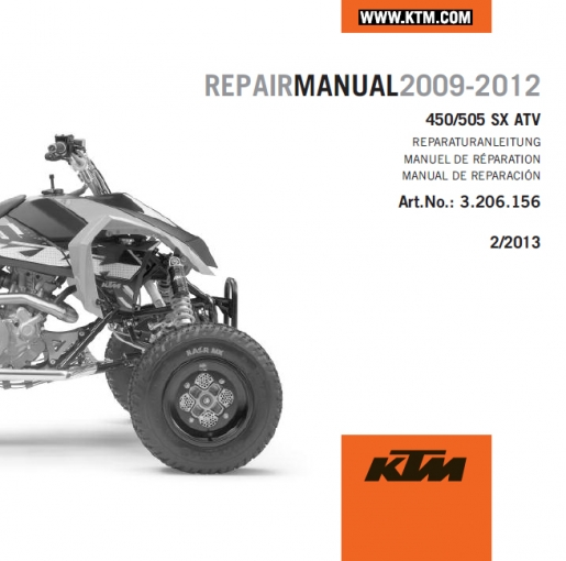 aomc mx cd repair manual 450 505 sx atv rh ktm parts com KTM Motorcycles KTM ATV