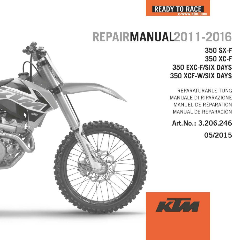 KTM DVD Repair Manual 350 F 11-17
