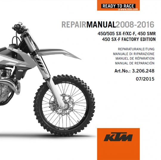 aomc mx ktm dvd repair manual 450 505 08 16 rh ktm parts com 2006 KTM 450 EXC 2009 ktm 530 exc workshop manual