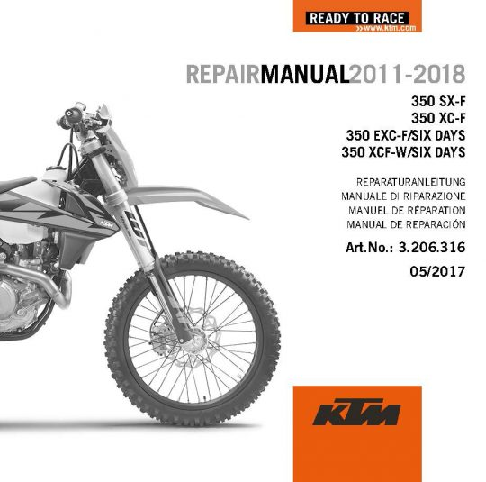 aomc mx ktm dvd repair manual 350 sx f exc f 11 18 rh ktm parts com 2013 KTM XCF 350 Review KTM 350 Six