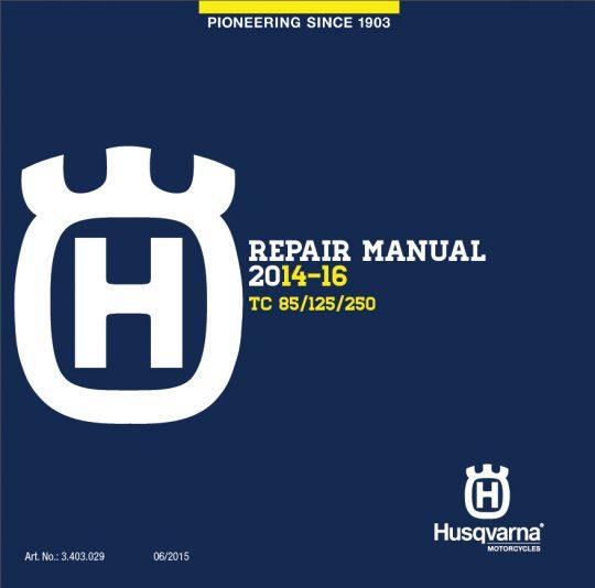 Husqvarna DVD Repair Manual TC 85/125/250 14-16