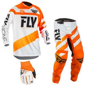 mxgear Fly Racing Mens Grey//Orange F-16 Dirt Bike Motocross Jersey and Pants Kit 2021