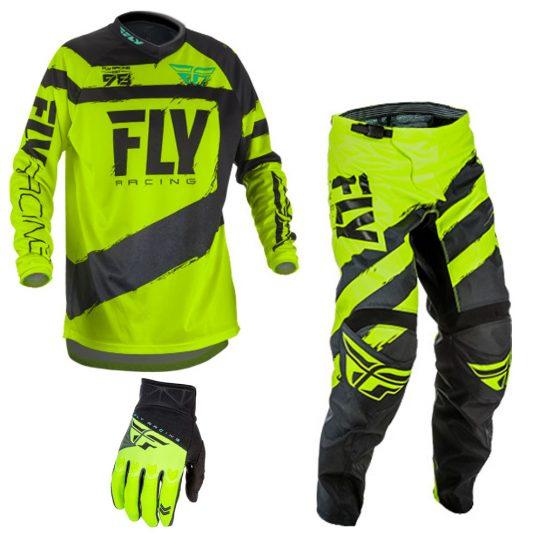 Fly Racing Evolution DST Mens MX Offroad Jersey Hi-Vis//Black//White
