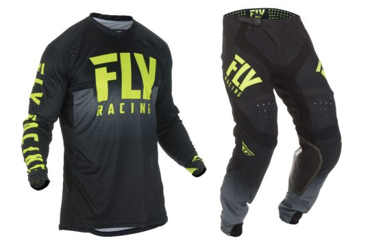 Fly Racing 2019 Fly Lite Hydrogen Jersey Black and Hi Vis
