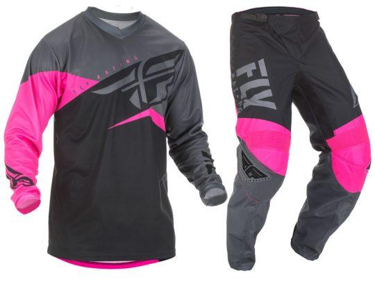 Fly Racing Women/'s Lite Race Jersey Neon Pink//Black