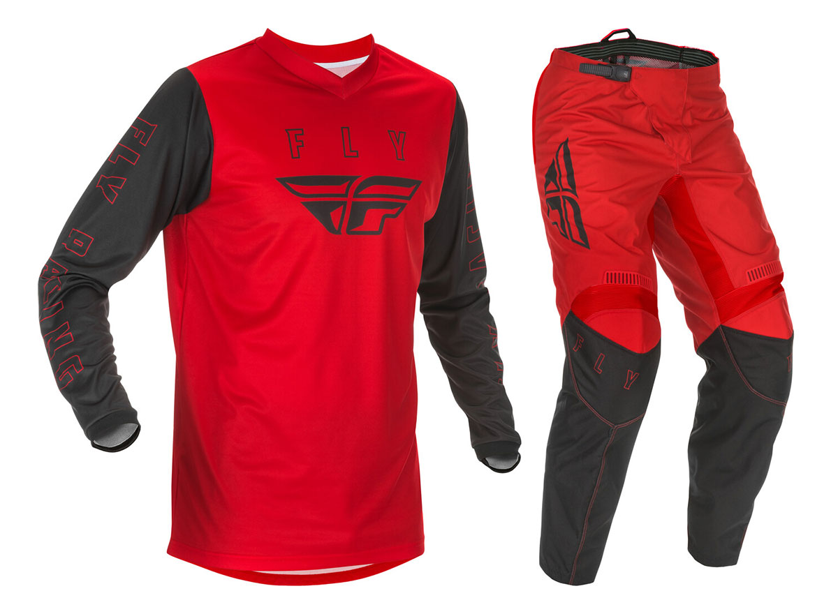Fly Racing 2019 F-16 Jersey and Pants Combo Red//Black//Gray Small,30
