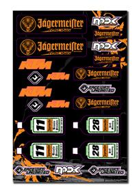 KTM Jagermeister Team Decal Sheet