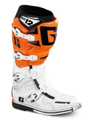 Gaerne Boots Sg12 >> Gaerne Sg12 Boots White Orange