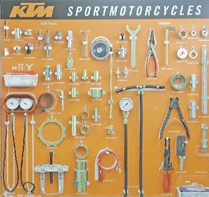 Aomc Mx Ktm Tool Board Lc8
