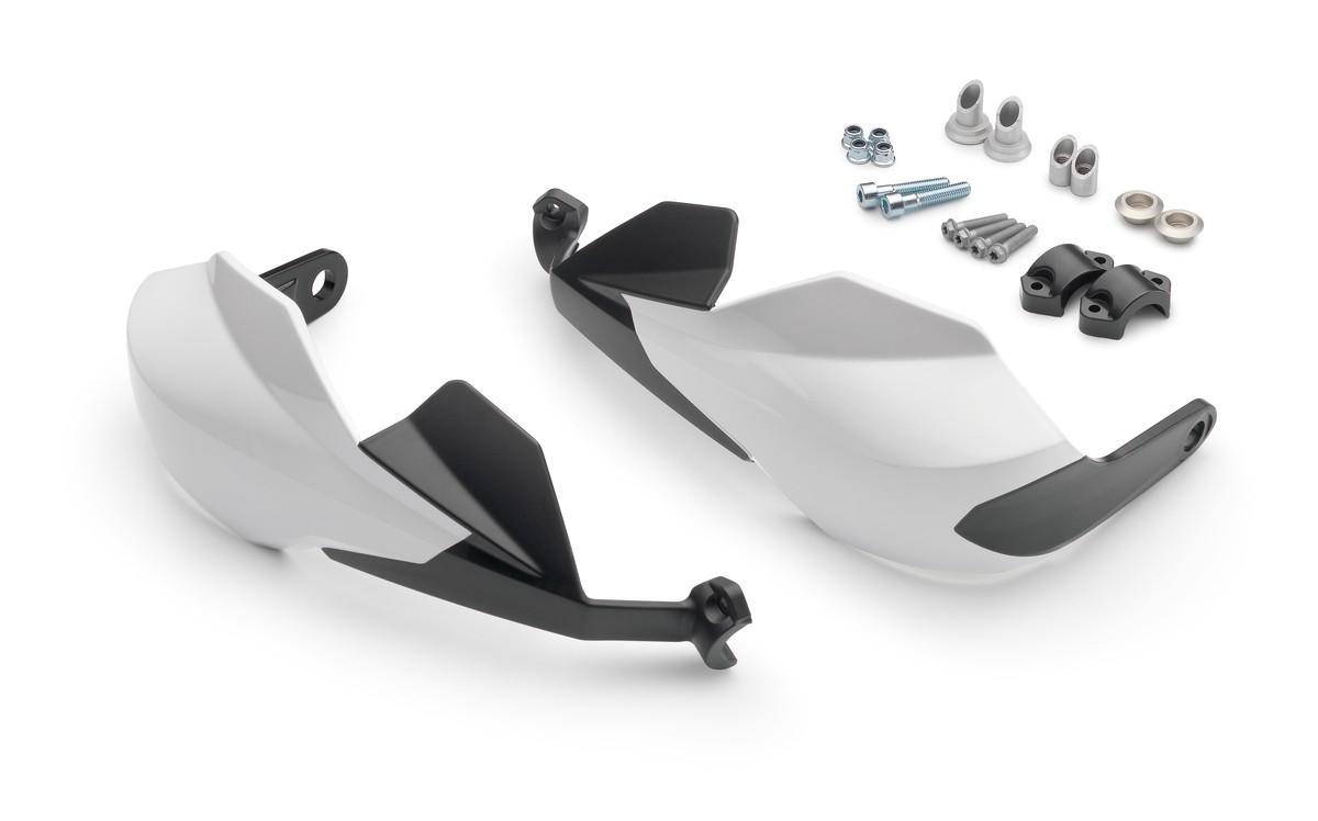 ktm husqvarna enduro handguards white. Black Bedroom Furniture Sets. Home Design Ideas