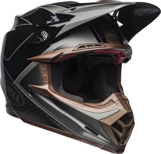 top quality cheapest price differently 2019 Bell Moto-9 Carbon Flex Helmet Hound (Black/Bronze)
