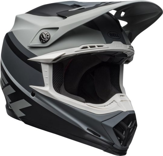 Prophecy Matte Gray//Black//White XX-Large Bell Moto-9 MIPS Dirt Helmet