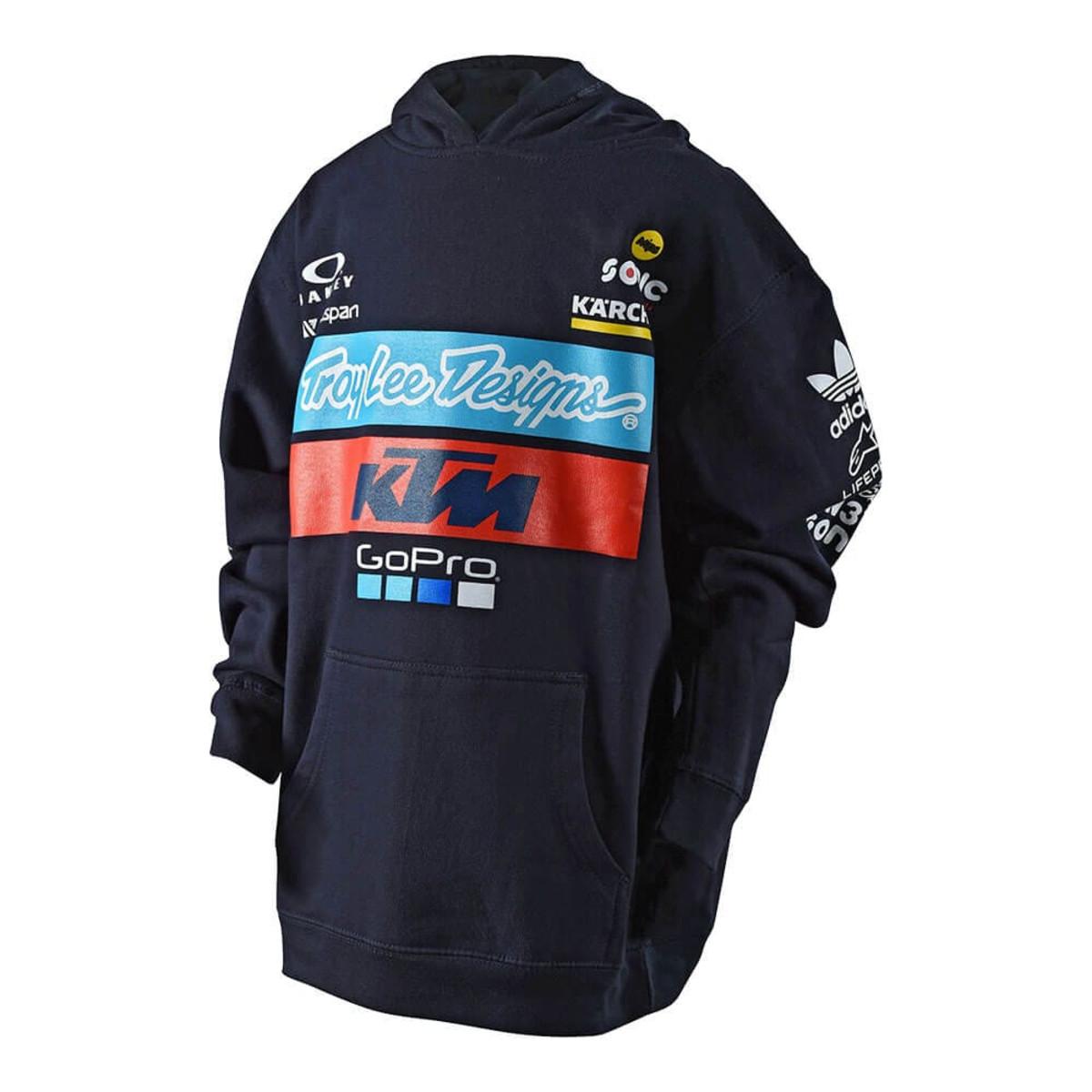 2019 Troy Lee Designs TLD KTM Team Pullover Hoodie Black MX ATV