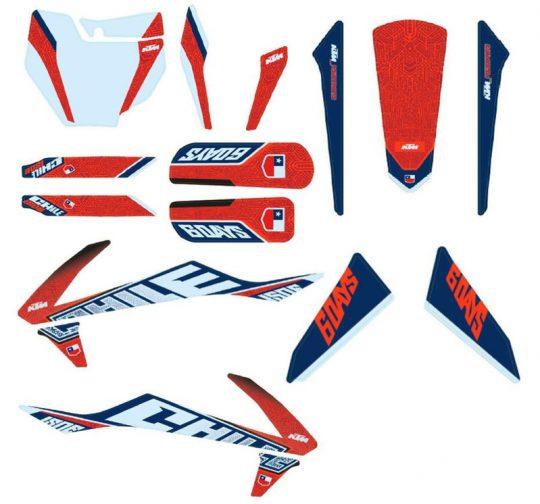 KTM Six Days Graphic Kit Chile