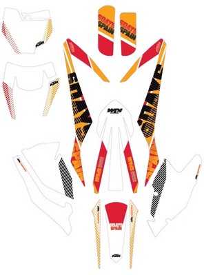 Aomc Mx 2016 Ktm Six Days Graphic Kit Spain