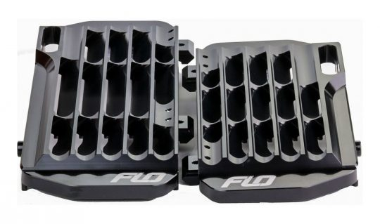 Flo FLO755BLK Black Billet Radiator Guards for 2017-on Honda CRF450R /& CRF450RX
