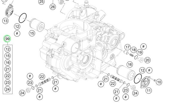 Aomc Mx 2016 Husqvarna 701 Oil Filter Kit