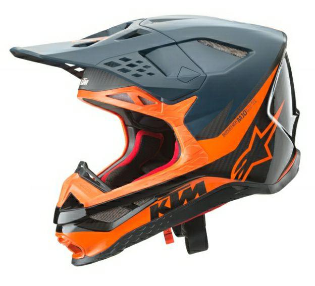 2020 KTM S-M10 Carbon Helmet by Alpinestar (Black/Orange)