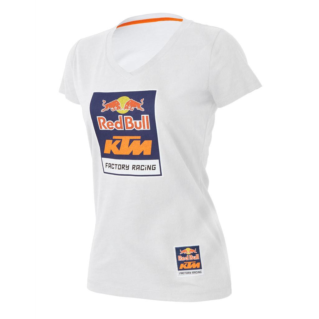 87c9bd36 AOMC.mx: RedBull/KTM Racing Women's Logo V-Neck Tee (White)