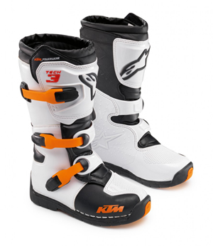 Aomc Mx Ktm Tech 3s Kids Mx Boot By Alpinestars
