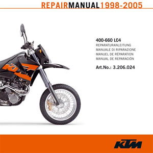 aomc mx ktm cd repair manual 400 660 lc4 1998 2005 rh ktm parts com ktm lc4 640 repair manual ktm lc4 manual download