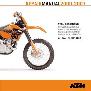 aomc mx cd repair manual 250 610 rfs 2000 2007 rh ktm parts com ktm 450 rfs service manual ktm 525 service manual