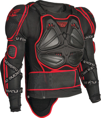 Aomc Mx Fly Barricade Body Armor Long Sleeve Red Black