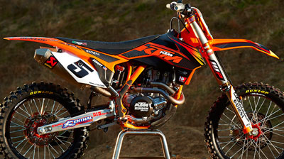 Aomc Mx Ktm Factory Graphics Kit Black 09 12 50 Sx