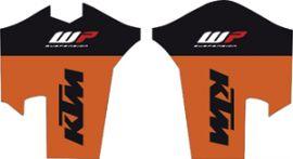 KTM Logo Sticker Black White Original PowerWear