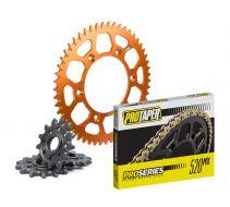 Primary Drive Alloy Kit /& 428 C Chain Orange Rear Sprocket For KTM